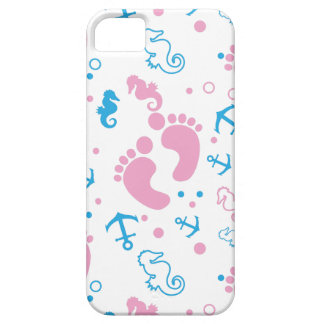 Nautical baby girl custom background color iPhone 5 covers
