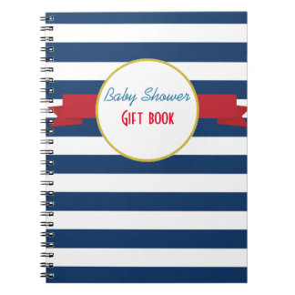 Nautical Baby Shower gift book. Note Books