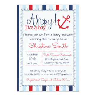 Nautical Baby Shower Invitation for a Boy