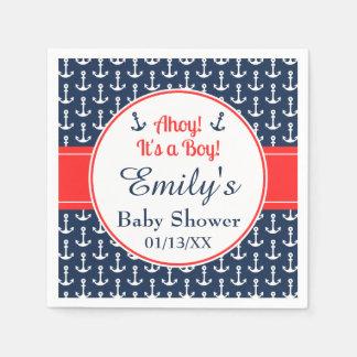 Nautical Baby Shower Paper Napkins