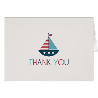 Nautical Baby Shower Thank You Notes
