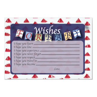 Nautical Baby Wishes & Bring a Book Card 2 in 1!