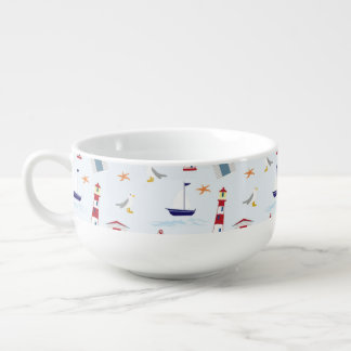 Nautical Back to School Dorm Essentials Soup Mug