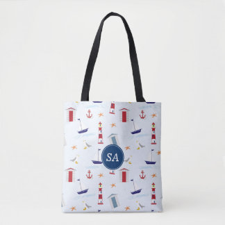 Nautical Back to School Dorm Essentials Tote Bag