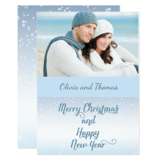 Nautical Beach Boaters Photo Christmas Card