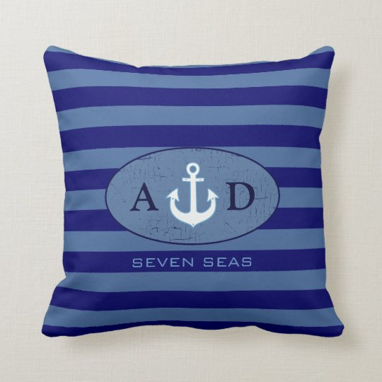nautical beach house decor personalized throw pillow