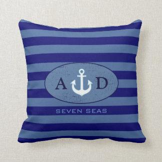 nautical beach house decor personalized throw pillow