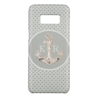 nautical beach preppy grey white anchor Case-Mate samsung galaxy s8 case