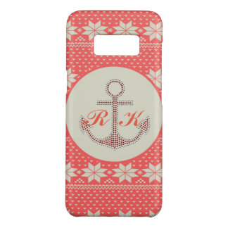 nautical beach preppy nordic pattern anchor Case-Mate samsung galaxy s8 case