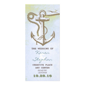 nautical beach wedding programs