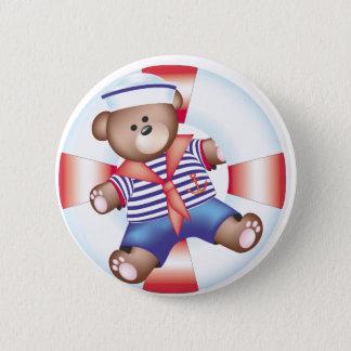 nautical bear 2 inch round button