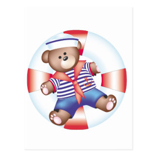 nautical bear postcard