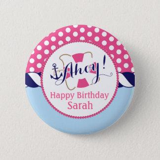 Nautical Birthday Button