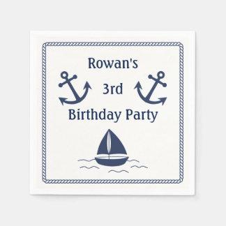 Nautical Birthday Party Napkins Paper Napkin