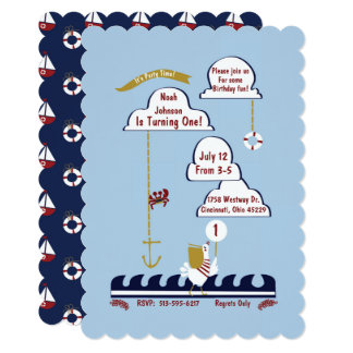 Nautical Birthday Party Playful Ocean Invitation