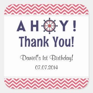 Nautical Birthday Thank You Stickers