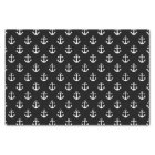 Nautical Black and White Anchor Pattern Tissue Paper
