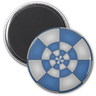Nautical Blue Abstract 2 Inch Round Magnet