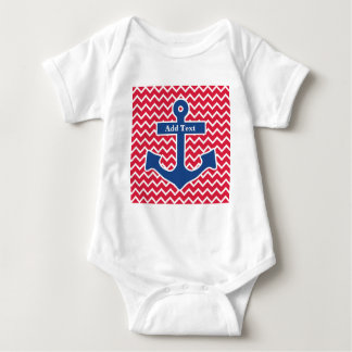 Nautical Blue Anchor Romper