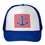 Nautical Blue Anchor Trucker Hat