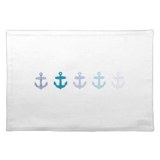 Nautical Blue Anchors Design Placemat