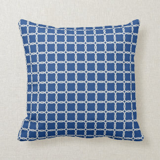 Nautical Blue and White Ropes Throw Pillow
