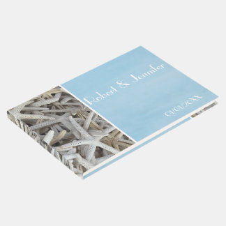 Nautical Blue and white seashell Beach wedding Guest Book