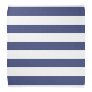 Nautical Blue and White Striped Pattern Bandana