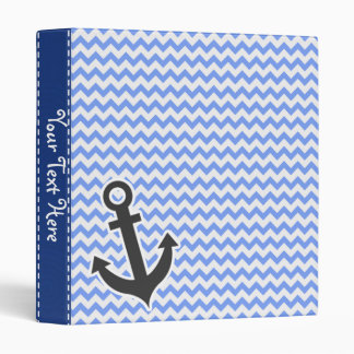 Nautical Blue Chevron Binder