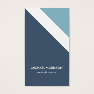 Nautical blue Mint stripes modern masculine smart Business Card