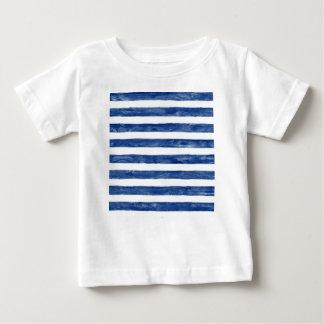 Nautical Blue Stripes Painting Art Baby T-Shirt