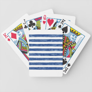 Nautical Blue Stripes Painting Art Bicycle Playing Cards