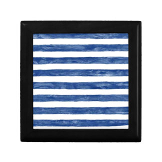 Nautical Blue Stripes Painting Art Gift Box