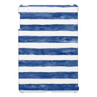 Nautical Blue Stripes Painting Art iPad Mini Case