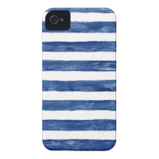 Nautical Blue Stripes Painting Art iPhone 4 Case-Mate Case
