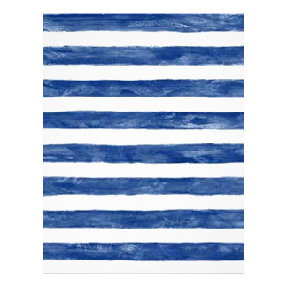 Nautical Blue Stripes Painting Art Letterhead