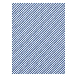 Nautical Blue Stripes Painting Art Tablecloth