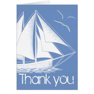 Nautical blue Thank you card