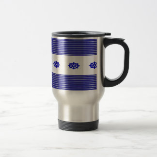 Nautical Blue Travel Mug