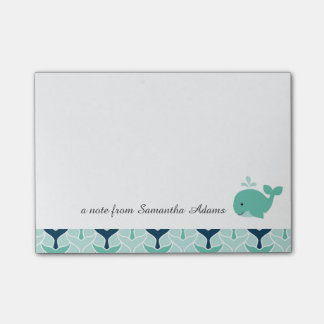 Nautical Blue Whale Post-it Notes