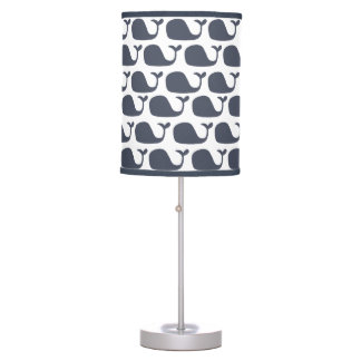 Nautical Blue Whales Table Lamp