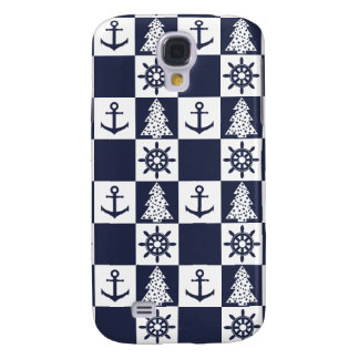 Nautical blue white checkered