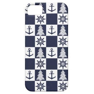 Nautical blue white checkered iPhone 5 case
