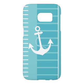 Nautical Blue White Stripe Design Samsung Galaxy S7 Case
