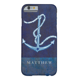 Nautical Boat Anchor, Sailing Ocean Sea Mens Barely There iPhone 6 Case