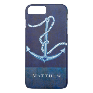 Nautical Boat Anchor, Sailing Ocean Sea Mens iPhone 8 Plus/7 Plus Case