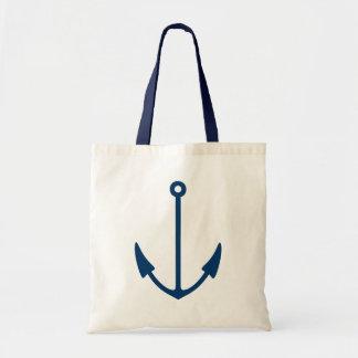 Nautical boat anchor tote bag | Navy blue handles