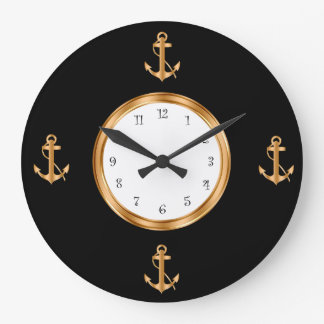 Nautical Boat Anchor Wall Clocks