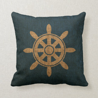 Nautical Boat Helm Throw Pillow