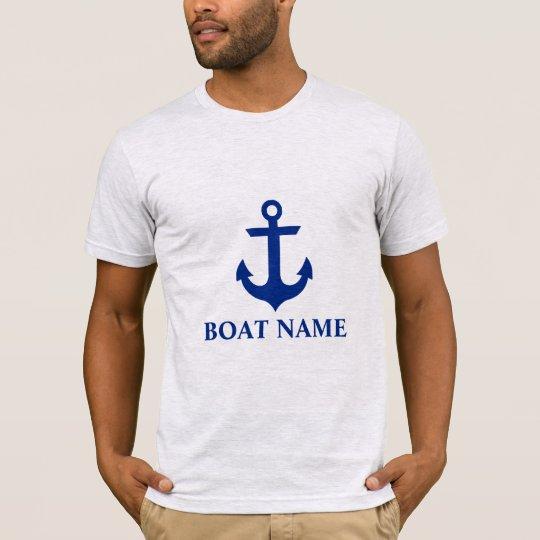 Nautical Boat Name Anchor Grey T-Shirt